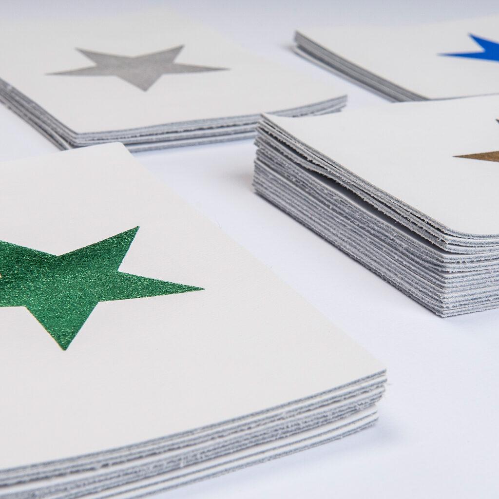 Lederen postkaarten 'star'