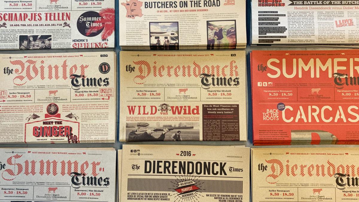 Krantje voor Slagerij Dierendonck