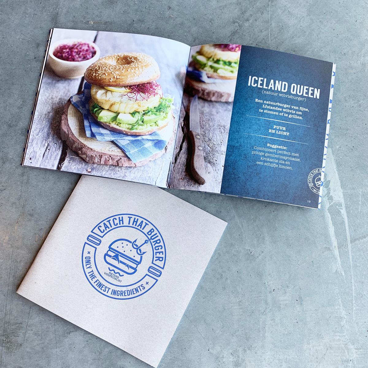 Design van boekje voor Catch That Burger