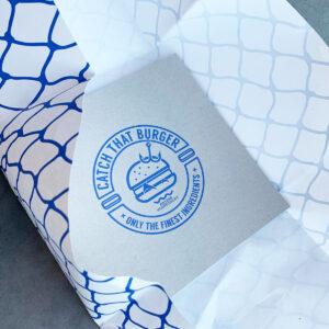 Verpakking design voor Catch That Burger