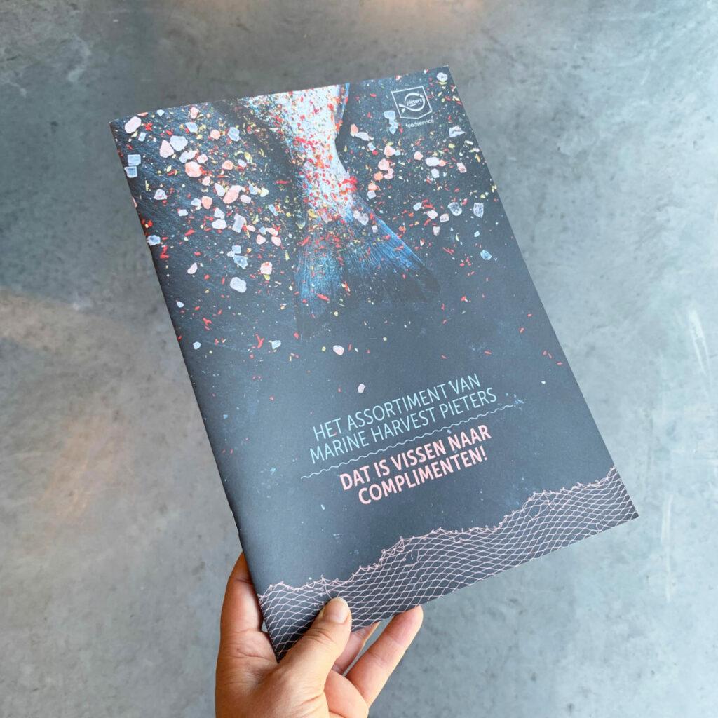 Design van boekje 'Het Assortiment van Marine Harvest Pieters'