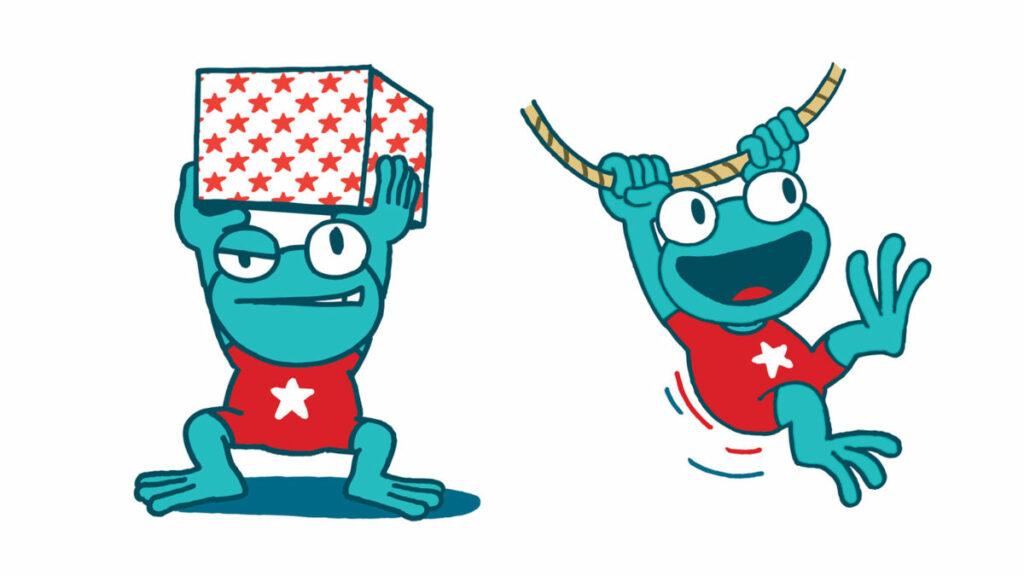 Illustratie voor de campagne Multimove voor kinderen