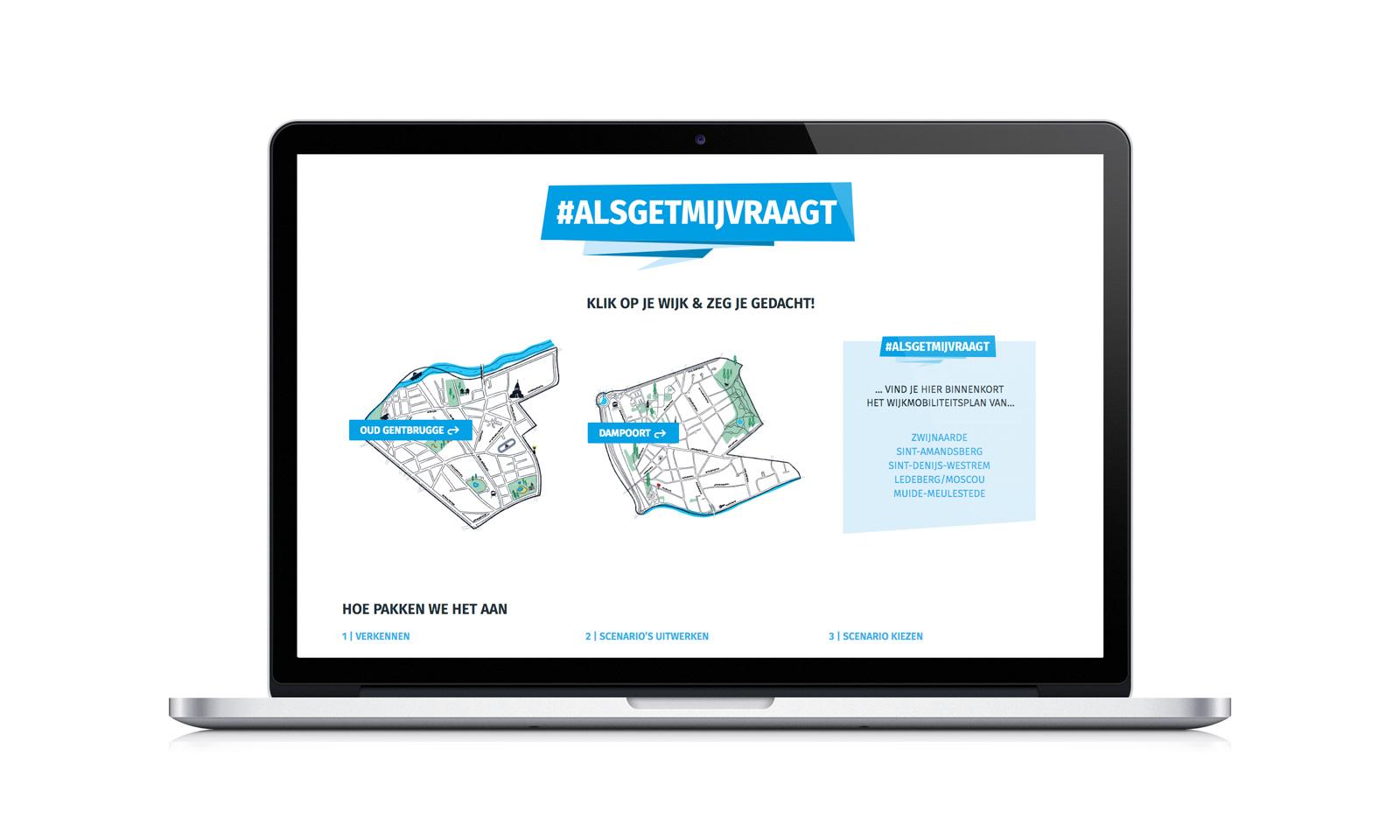 online platform als onderdeel van de participatiecampagne #alsgetmijvraagt van Stad Gent