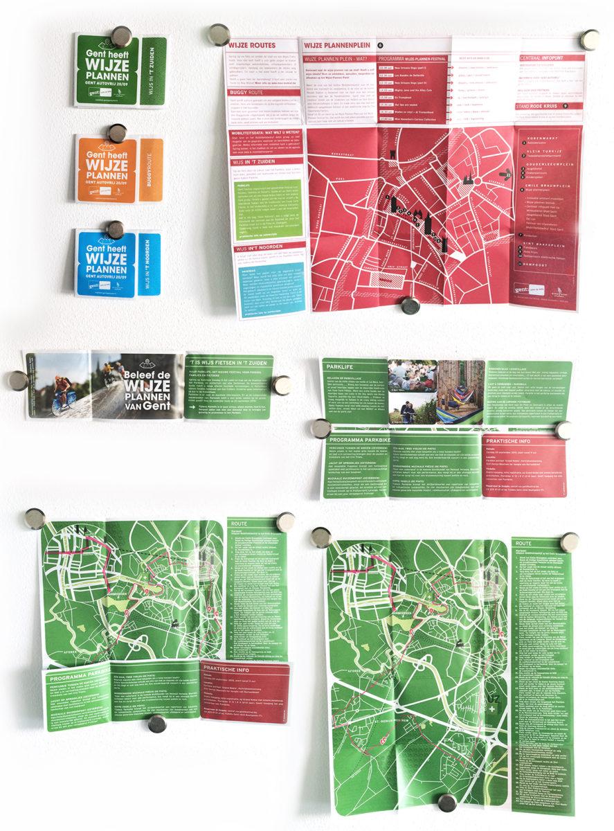 Brochure voor het nieuwe circulatieplan in Stad Gent