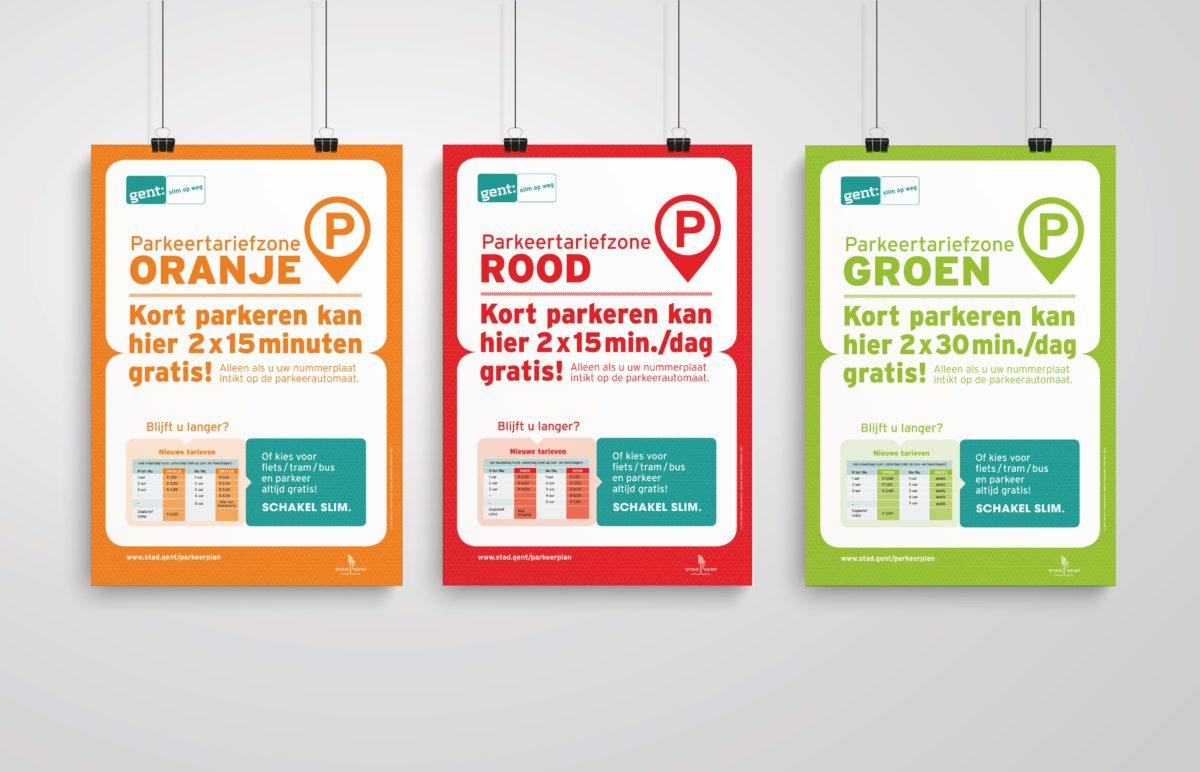 Het parkeerplan voor het nieuwe circulatieplan in Stad Gent