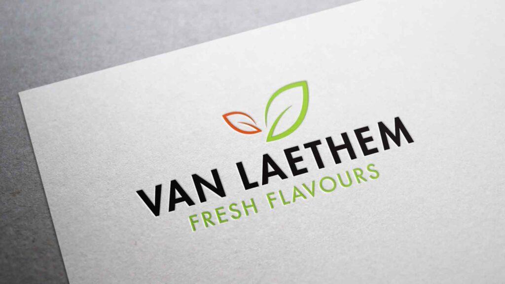 Logo van Van Laethem op een visitekaartje