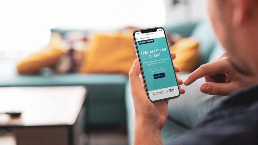 Campagne Werkbaar Werk op een mobile