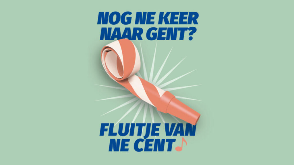Campagnebeeld voor bereikbaarheidscampagne voor Stad Gent