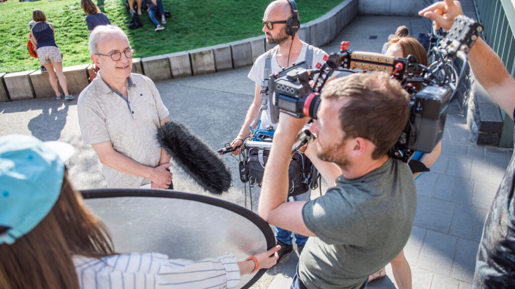 Making of de bereikbaarheidscampagne voor Stad Gent - het filmen van een interview