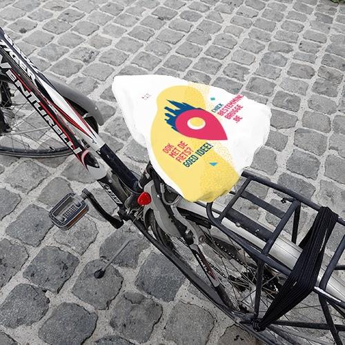 Een zadelhoes voor de bereikbaarheidscampagne van Stad Brugge