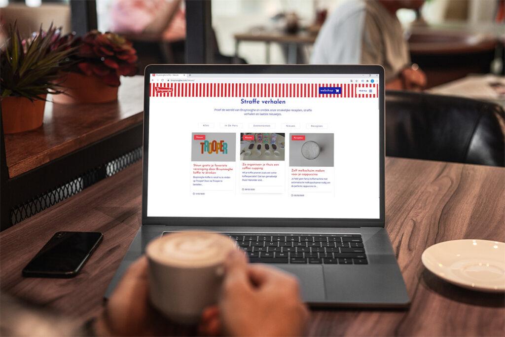 De website van Bruynooghe Koffie