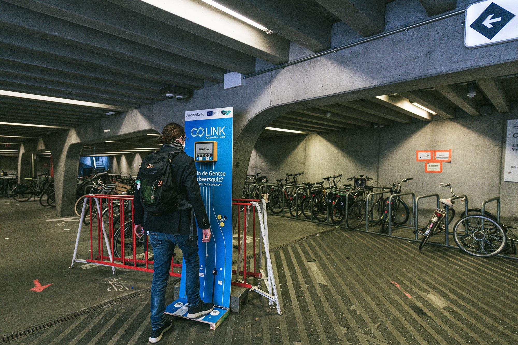 Installatie van een verkeersquiz voor Stad Gent