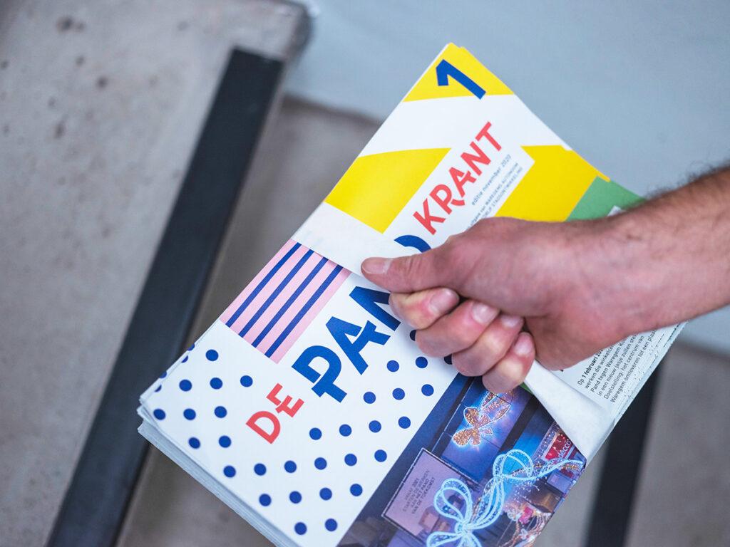"""De Pandkrant - een krant voor de campagne """"Het Pand Ontpopt"""" voor Stad Waregem"""