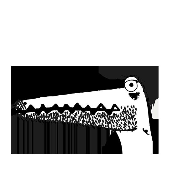 Illustratie van Kristof als kaaiman
